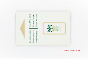 Пластиковые карты на белом пластике