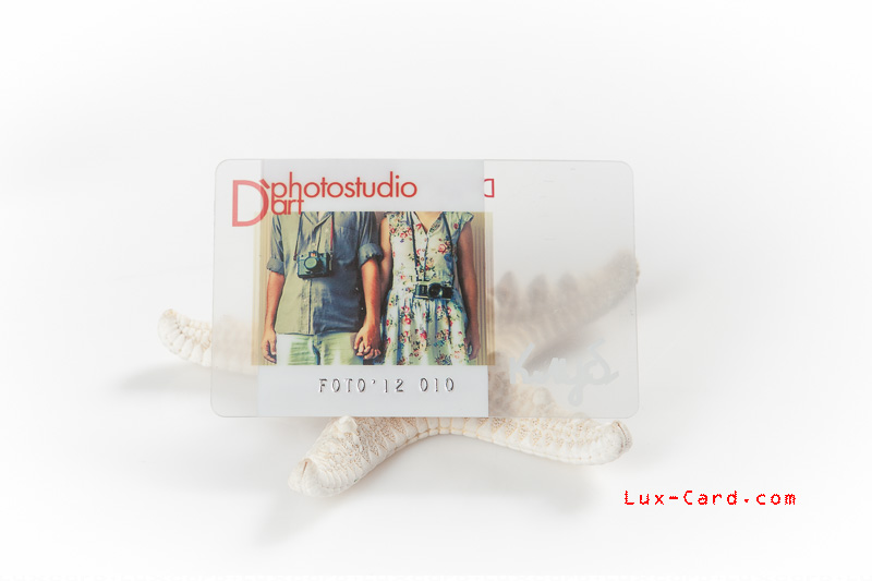 Карты и визитки из прозрачного пластика