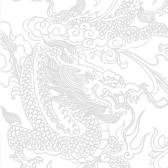 Рисунок дракона для визиток и пластиковых карт