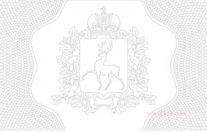 Герб Нижнего Новгорода для визиток и пластиковых карт