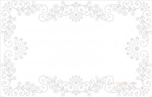 Флористическая рамка для визиток и пластиковых карт