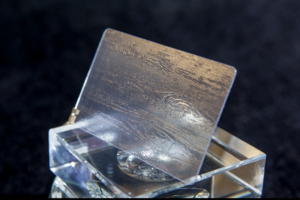 Прозрачные пластиковые карты с фактурной поверхностью - образец